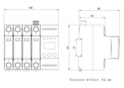 dimension-iSPD-AT T1-Class I for three phase (TT,TN)