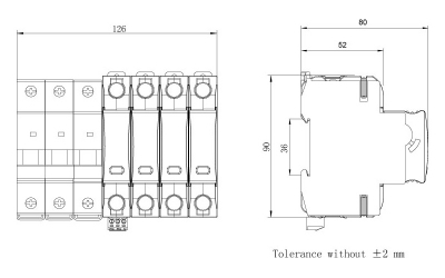 dimension-iSPD-SCB T1-Class I for three phase (TT,TN)