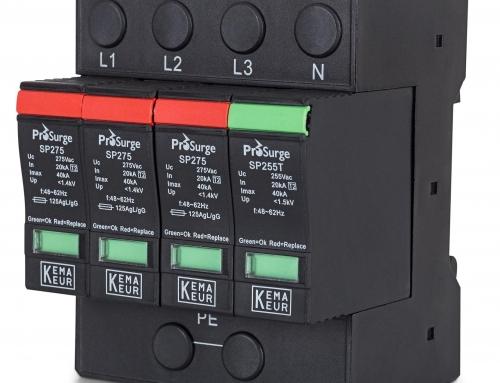 A Prosurge foi aprovada no processo de reexame em seu Dispositivo de Proteção contra Surtos (SPD) e recebeu a certificação KEMA-KEUR de forma contínua
